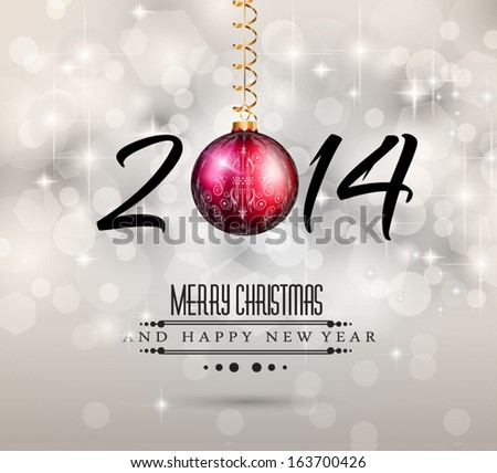 2014 New Year Colorful Background for your  Party invitations. - stock vector