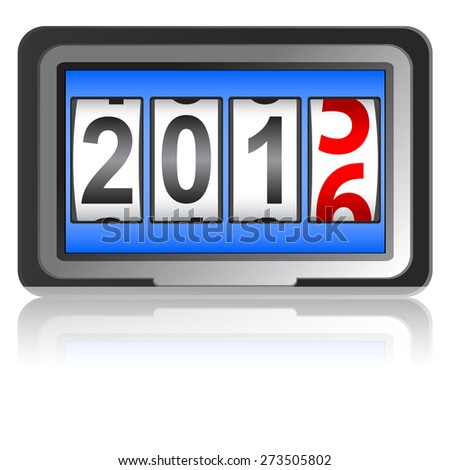 2016 New Year counter, vector illustration. - stock vector