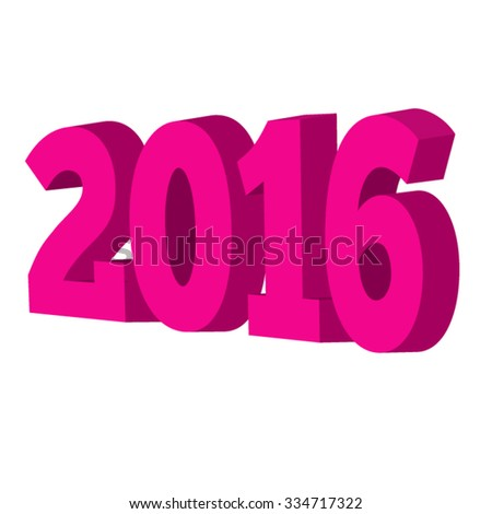 2016 New Year greeting card Vector EPS 10 illustration.