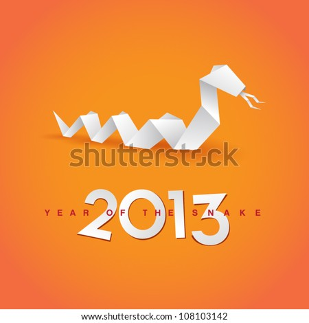2013 New Year's Eve greeting card - stock vector