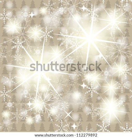 2013 New Year Trees seamless. Vector illustration - stock vector