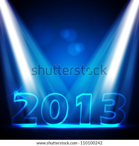 2013 New Years Eve Vector Design - stock vector