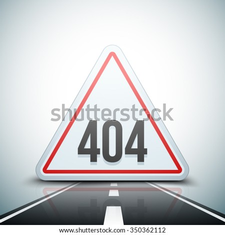 404 Not found error sign - stock vector
