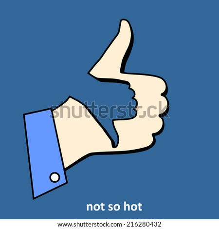 """Not so hot"" icon. Concept of symbol of indifference. Vector - stock vector"
