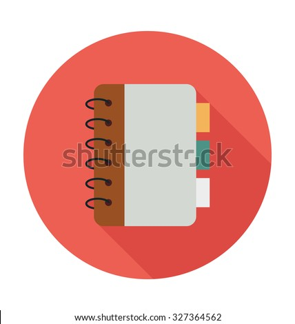 Notebook Colored Vector Illustration  - stock vector