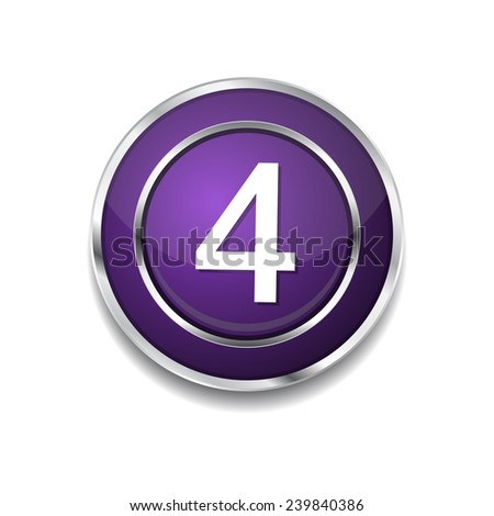 4 Number Circular Vector Purple Web Icon Button
