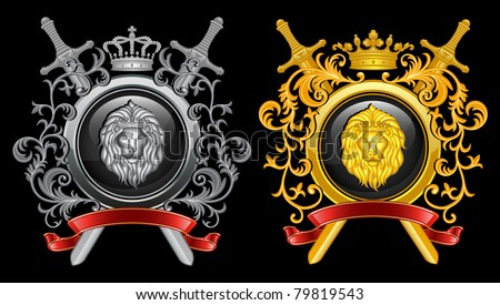 ?oat of arms. Vector illustration. - stock vector