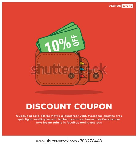 10 Off Discount Coupon Inside Wallet Stock Vector 703276468 ...