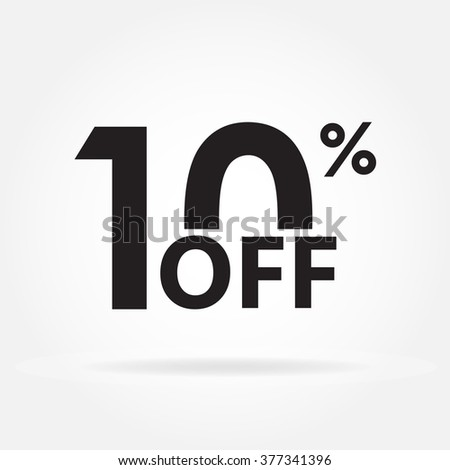 10% off. Sale and discount price sign or icon. Sales design template. Shopping and low price symbol. Vector illustration. - stock vector