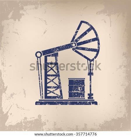 Oil Industry design on old paper background,vector