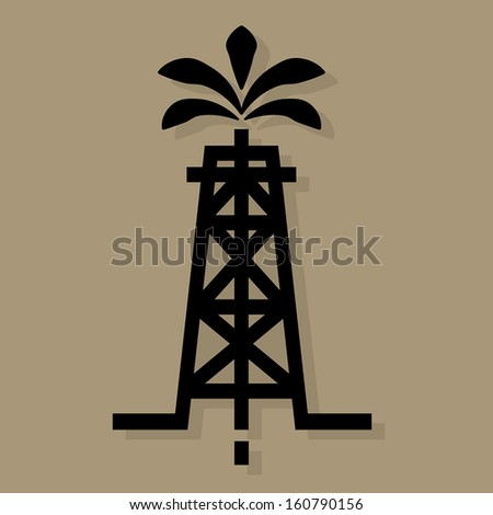 Oil industry icon or sign, vector illustration - stock vector
