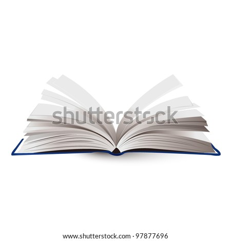 opened book vector illustration