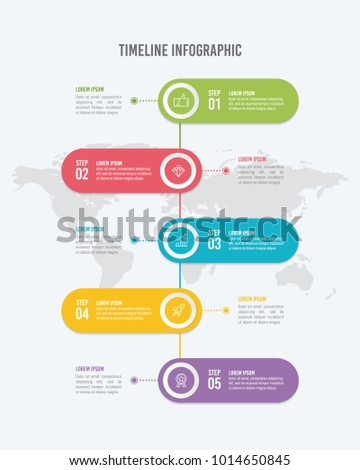 Options Vertical Timeline Infographic Template Stock Vector - Free timeline infographic template