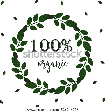 100 Organic Calligraphy Inscription Wreath Graphic Stock