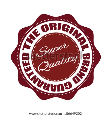 original brand guaranteed grunge stamp with on vector illustration