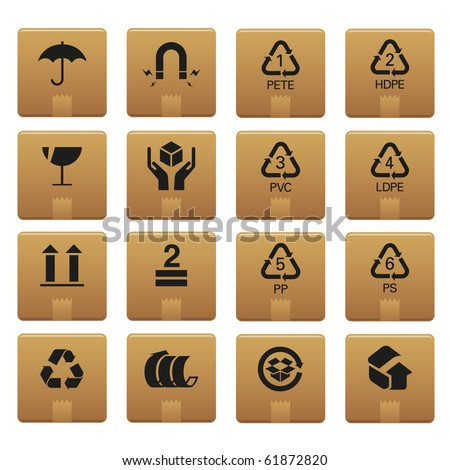 01Packaging Icons Professional vector set for your website, application, or presentation. The graphics can easily be edited colored individually and be scaled to any size - stock vector