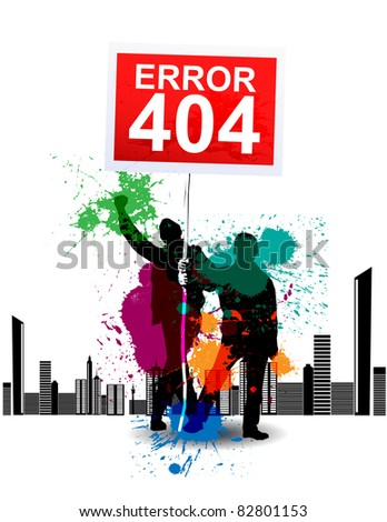 404 Page not found - stock vector
