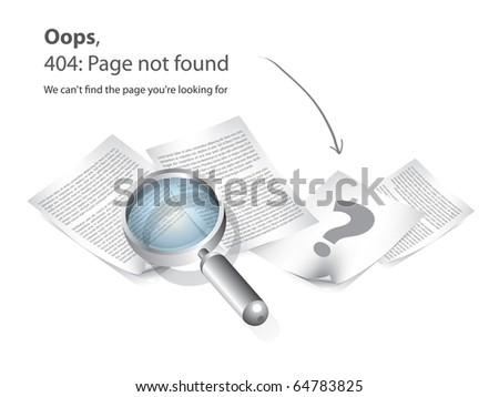 404 Page not found vector - stock vector