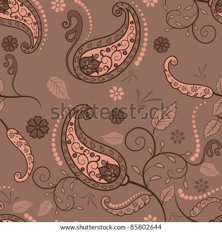 Paisley seamless pattern  for your design - stock vector