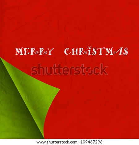 Paper Christmas background. Vector eps10 - stock vector