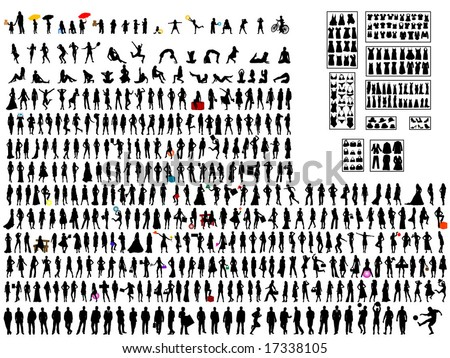 420 people silhouettes