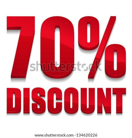 70 percent discount digits