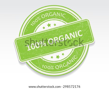 100 percent organic rubber stamp.100 percent organic grunge stamp.Vector illustration. - stock vector