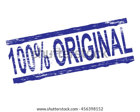 100 Percent original rubber stamp symbol vector illustration  - stock vector