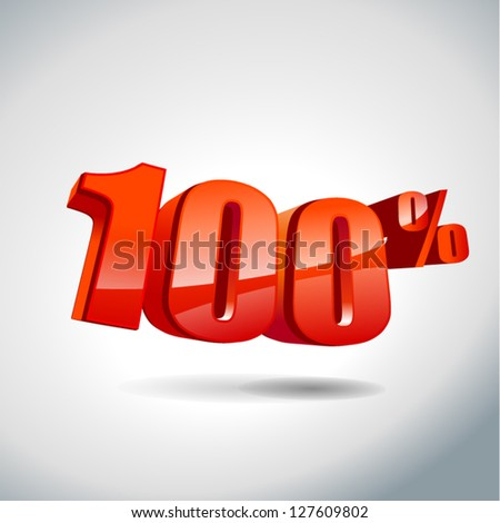 100 percent sale - stock vector