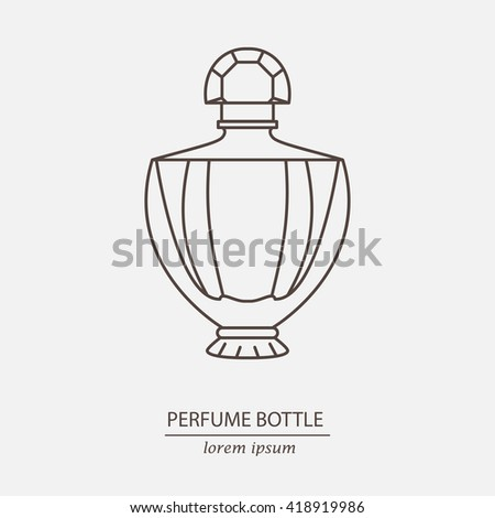 Perfume outline bottle icon. Can use for design wrapping paper packaging, scrap-booking, sites and perfume shops