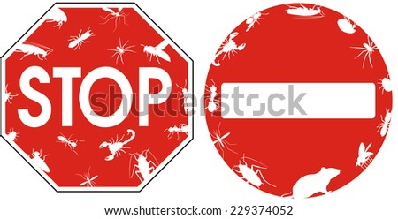 pest control - sign - stock vector