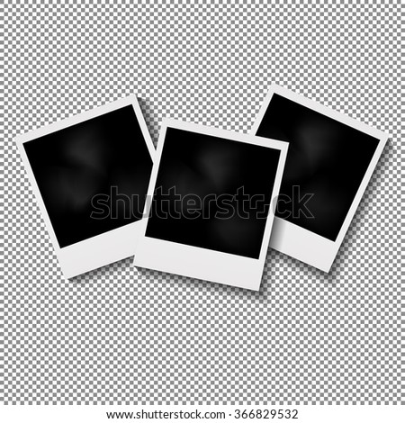 photo frame with shadow on plaid background. EPS 10