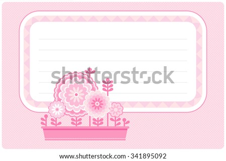 Picture for  signature of school notebook - stock vector