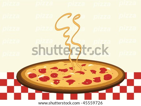 Pizza with copy space - stock vector