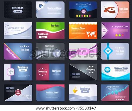 20 Premium Business Card Design Vector Set - stock vector