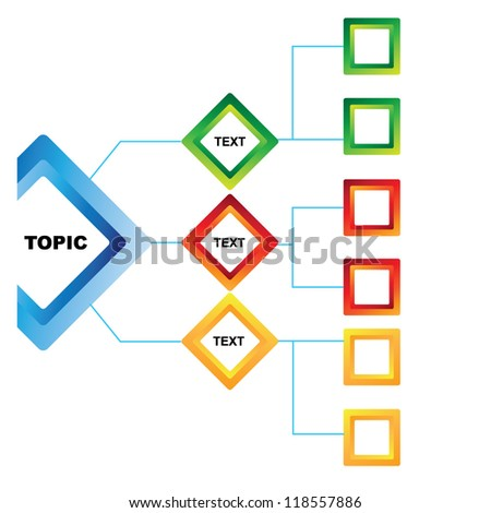 presentation template, mind mapping - stock vector