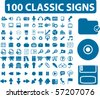 100 professional classic signs. vector - stock vector