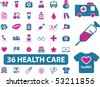 36 professional health care signs. vector - stock vector