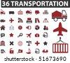 36 professional transportation signs. vector - stock vector