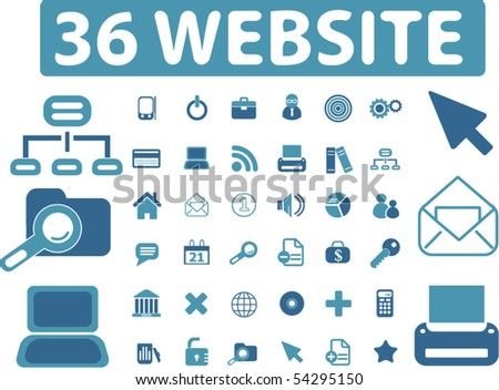 36 professional website signs. vector