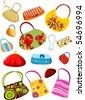 purse set - stock vector