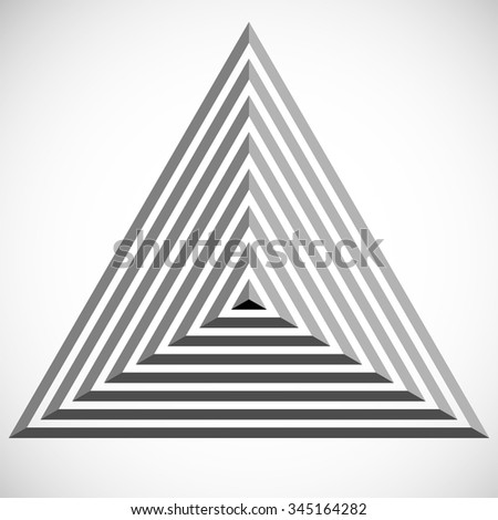 Pyramid Logo Design Triangle Template Vector Stock Vector