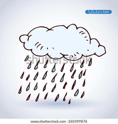 rain cloud , Weather Icons. vector illustration. - stock vector