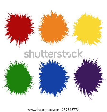 Rainbow Colors Gay Lesbian LGBT vector illustration . Vector ink stain. Vector color blots on white background for design use of paint splash. Vector of brush strokes - stock vector
