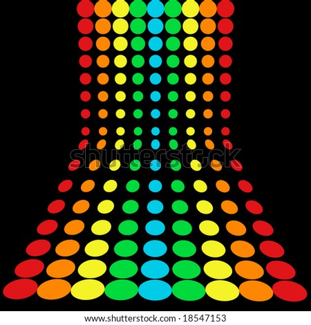 rainbow dots pattern - stock vector