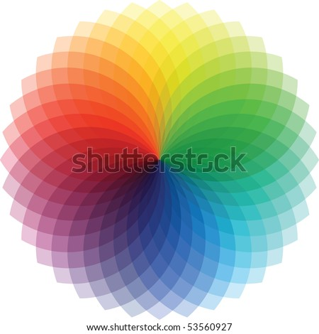 Rainbow Swirl, Vector Illustration - stock vector