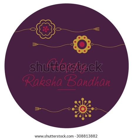 'Raksha Bandhan' greeting card cover. - stock vector