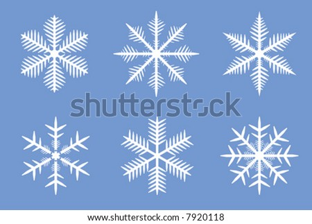 3rd set of a beautiful vector snowflakes. See also hi-res JPEG version in my portfolio.