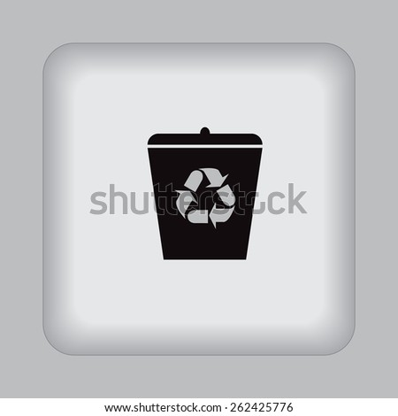 recycle, garbage, can, flat, vector, illustration. - stock vector