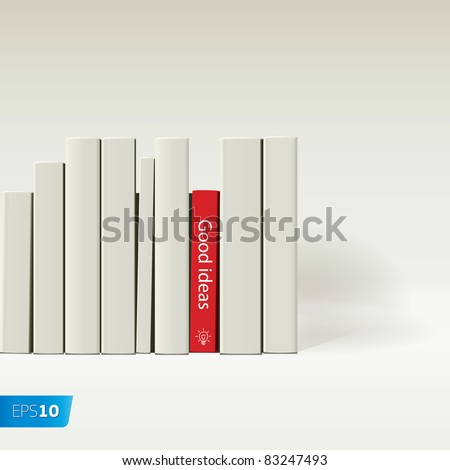 red book vector image - stock vector